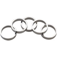 "Wheels Manufacturing Alloy Headset Spacers - 1 1/8"" x 7.5mm Bag of 5 (Silver)"