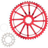 Wolf Tooth Components GC 49 Cog Bundles - 11 Speed Sram NX/SunRace - 49 Tooth + 18 Tooth Cog, Sram NX/SunRace 11 Speed (Red)