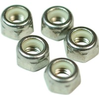 Wheels Stainless Nylock Metric Hex Nuts - M5 x Bottle of 100 (Stainless)