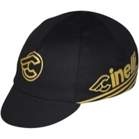 Pace Cinelli Gold Cycling Cap - Black/Gold - One Size (Black/Gold)
