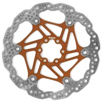 Hope Floating 2 Piece Rotors - 160mm 6-Bolt (Orange)