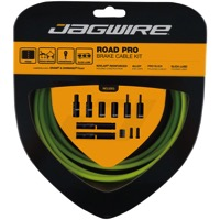 Jagwire Road Pro Brake Cable/Housing Set - Slick Polished Inner Cables - Kit, Slick Polished Cables (Organic Green)