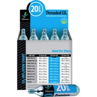 Genuine Innovations CO2 Refill Cartridges - 20g 20-Pack (Threaded)