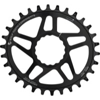 "Wolf Tooth DM PowerTrac Elliptical Boost Chainring - Fits Race Face Cinch ""Boost"" Cranks - 32 Tooth ""Boost"" Cinch Direct Mount (Black)"