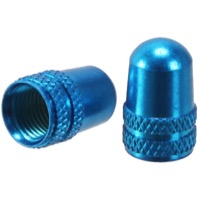 Alligator Alloy Schrader Valve Caps - Pair (Blue)