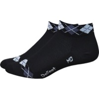 "Defeet Aireator 1"" Argyle Women's Socks - Black/Graphite White - Large (Black/Graphite White)"