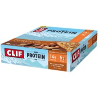 Clif Bar Whey Protein Bars - Peanut Butter Chocolate (Box of 8)