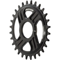 Rotor NoQ Direct Mount Round Chainrings - 28t (Black)