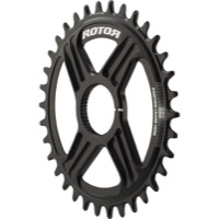 Rotor NoQ Direct Mount Round Chainrings - 34t (Black)