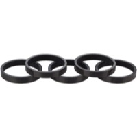 Whisky Parts Co. Carbon Headset Spacer Kits - 5mm, 5-Pack (Black Gloss)