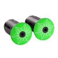 Supacaz Star Plugz - Pair (Powder Coated Neon Green)