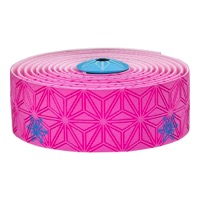 Supacaz Super Sticky Kush Bar Tape - Galaxy Pink w/Neon Blue