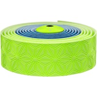 Supacaz Super Sticky Kush Bar Tape - Neon Blue and Yellow