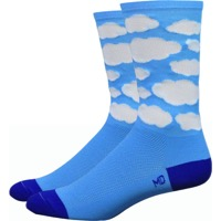 "DeFeet Aireator 6"" Tenspeed Hero Socks - Montana Blue Cloud - Small, 4.5-6.5 (Montana Blue Cloud)"