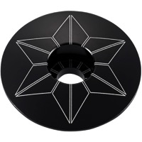 Supacaz Star Capz Headset Top Cap - 1 1/8 Inch (Black Ano)