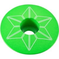 Supacaz Star Capz Headset Top Cap - 1 1/8 Inch (Neon Green Powder Coated)