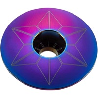 Supacaz Star Capz Headset Top Cap - 1 1/8 Inch (Oil Slick)