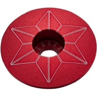 Supacaz Star Capz Headset Top Cap - 1 1/8 Inch (Red Ano)