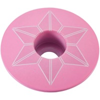 Supacaz Star Capz Headset Top Cap - 1 1/8 Inch (Giro Pink Powder Coated)