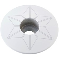 Supacaz Star Capz Headset Top Cap - 1 1/8 Inch (White Powder Coated)