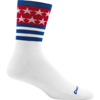 Darn Tough Micro Crew Ultra-Light Socks - Stars/Stripes White - X Large, Size 12.5-14.5 (Stars/Stripes White)