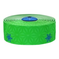 Supacaz Super Sticky Kush Bar Tape - Galaxy Green w/Neon Blue