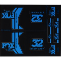 Fox Racing Shox Heritage Decal Sets 2017 - Blue (Step-Cast Specific)