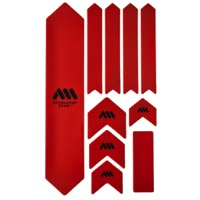 All Mountain Style Basic Honeycomb Frame Guard - Extra (Red/Black)