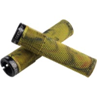 DMR Brendog Flangeless Death Grips - Thick, Pair (Camo/Black Clamps)