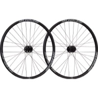 "Spank Spike Race 33 27.5"" Wheelset - Front 20x110 TA / Rear 12x150/157 TA, Shimano HG (Black/Gray Bearclaw Ed)"