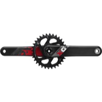 "SRAM X01 Eagle DM DUB ""Boost"" Carbon Crankset - 12 Speed - 170mm x 32 Tooth x Boost 148mm (Black/Red)"
