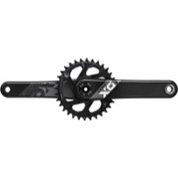 "SRAM X01 Eagle DM DUB ""Boost"" Carbon Crankset - 12 Speed - 170mm x 32 Tooth x Boost 148mm (Black/Grey)"