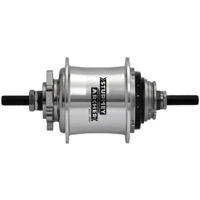 Sturmey-Archer RS-RK3 3 Speed Disc Hub - 135mm Spacing - 135mm x 10mm Bolt-On x 36 Hole (Silver)
