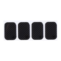 "Bike Armor Cable Rub Shields - Standard, 2 x 1 3/8"" Rounded Rectangle, 4 Pack (Carbon)"