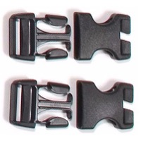 Ortlieb Replacement Buckles - Stealth 25mm Buckle Set, Rack Packs (Male and Female)