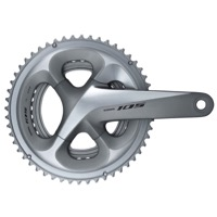 Shimano FC-R7000 105 11spd Double Crankset - 11 speed - 165.0mm x 34/50t (Silver)