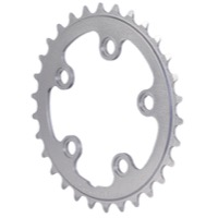 Interloc Racing Design Lobo 74mm Chainrings - 28 Tooth x 74mm BCD x 5 Bolt (Silver)