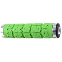 ODI Rogue Lock-On Grips - Bonus Pack (Lime Green Grips/Silver Clamps)