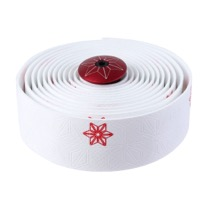 Supacaz Super Sticky Kush Bar Tape - Galaxy White w/Red