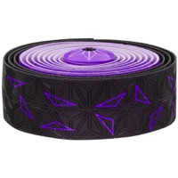 Supacaz Super Sticky Kush Bar Tape - Starfade Black and Purple