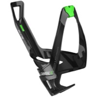 Elite Cannibal XC Water Bottle Cages - Glossy Black/Green