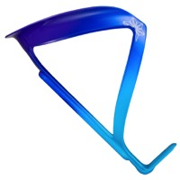 Supacaz Fly Alloy Water Bottle Cage - Ice Blue/Blue/Neon Purple