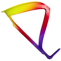 Supacaz Fly Alloy Water Bottle Cage - Neon Purple/Red/Yellow