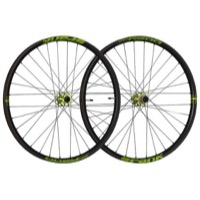 "Spank Oozy Trail 395+ ""Boost"" 29"" Wheelset - Front, 15x110mm TA / Rear, 12x148mm TA, Shimano HG (Black/Green)"