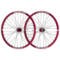 "Spank Oozy Trail 345 ""Boost"" 29"" Wheelset - Front 15x110 TA / Rear 12x148 TA, Shimano HG (Red)"