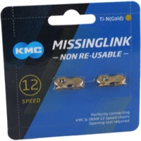 KMC Missing Link Connectors - MissingLink-12 12sp Chain, Gold (2/Card)