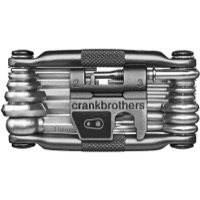 Crank Brothers M-19 Multi Tools w/Flask - Silver (Nickel)