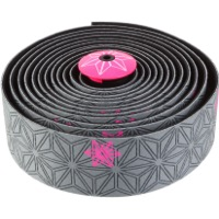 Supacaz Super Sticky Kush Bar Tape - Galaxy Gunmetal w/Pink
