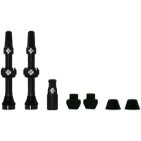 Muc-Off Tubeless Valve Kit - 44mm Valve Kit (Black)