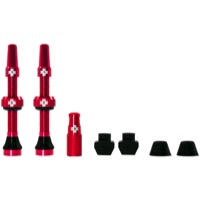 Muc-Off Tubeless Valve Kit - 44mm Valve Kit (Red)